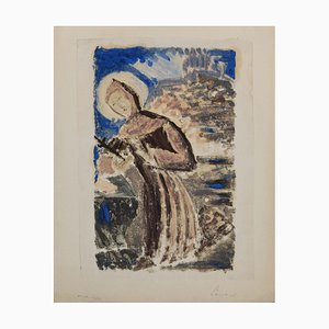 Unknown, Saint Francis of Assisi, Original Monotype, 1950