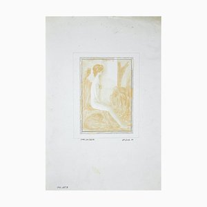 Leo Guida, Study for A Sybil, Original Drawing, 1970