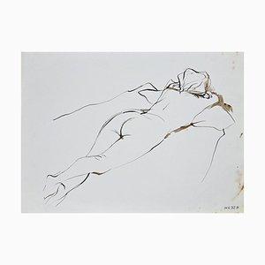 Leo Guida, Nude of Woman, Inchiostro originale, Cina, anni '70