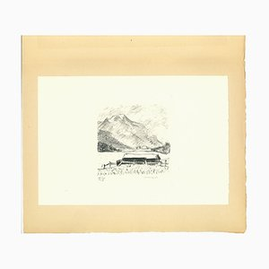 Berg, Lithographie, Frühes 20. Jahrhundert
