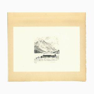 Lithographie Montagne, Début 20ème Siècle