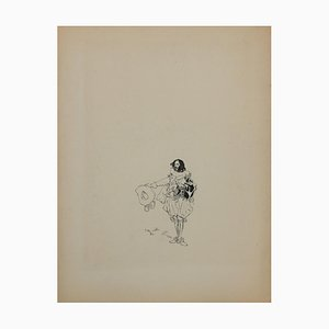 Unbekannt, Wayfarer, Tintenzeichnung, Mitte, 20. Jahrhundert