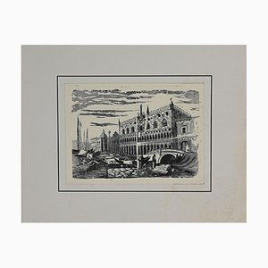 Unknown, Port in Venice, Original Lithograph, Early 20th Century