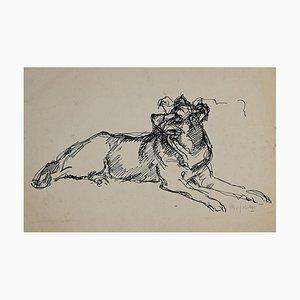 Unbekannt, The Dog, Original Ink, Mid, 20. Jahrhundert