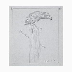 The Crow, Original Pencil Drawing, 1972