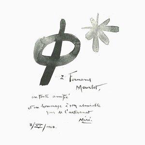 Litografia Joan Miró, composizione, 1982