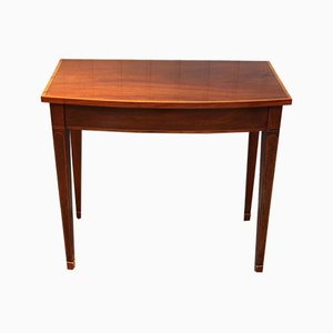 Edwardian Mahogany & Satinwood Bow Front Side Table