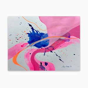 Pink Vortex, Abstract Painting, 2020