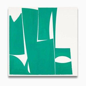Covers 24, Grün A, Abstrakte Malerei, 2015