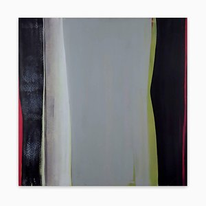 Gray Center, Abstract Painting, 2015