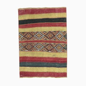 Handgeknüpfter türkischer Vintage Kilim Ouschak Teppich aus handgewebter Wolle
