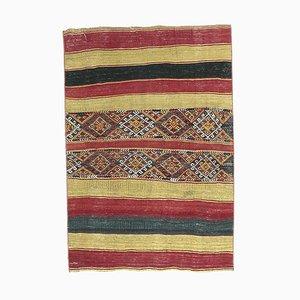 Vintage Turkish Kilim Oushak Handmade Wool Flatweave Rug