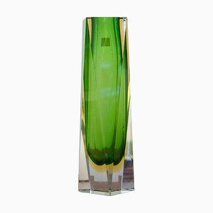 Green Hand-Crafted Murano Glass Vase by Flavio Poli from Mandruzzato, Italy, 1960
