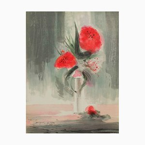 Pink Flowers by Jean,Claude Bligny