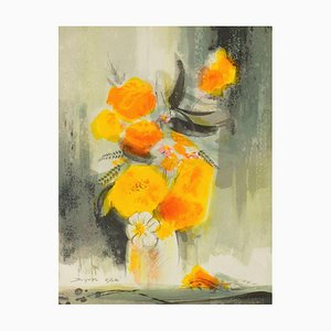 Yellow Flowers by Jean,Claude Bligny