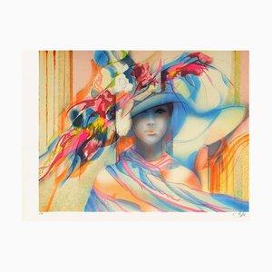 Femme au Chapeau IV par Jean, Baptiste Valadié