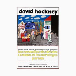 Affiche Expo 81, Galerie Claude Bernard par David Hockney