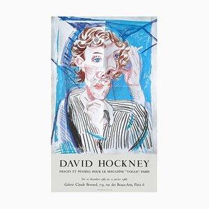 Poster Expo 86, Galerie Claude Bernard, Affiche Images et Pensées pour Vogue par David Hockney