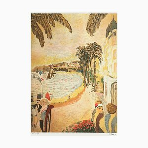 The Beach of the Carlton in Cannes I by Ramon Dilley
