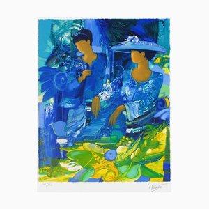Ombrage Bleu by Gérard Le Nalbaut