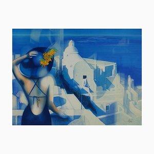 Lumière Blanche sur Santorin par Jean, Baptiste Valadié