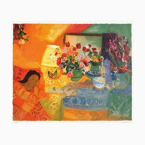 Bouquet Devant la Lampe by Nancy Delouis