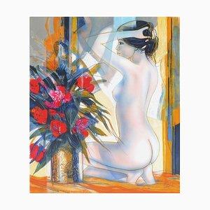 Nu Au Bouquet by Jean,Baptiste Valadié