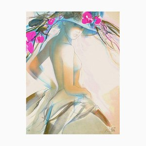 Femme au Chapeau V par Jean, Baptiste Valadié