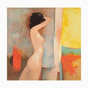 Nu au rideau jaune by Claude Gaveau