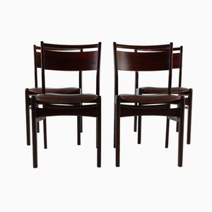 Rosewood Dining Chairs, 1960s, Set of 4