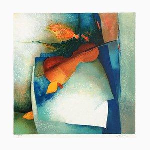 Bodegón con violín II de Claude Gaveau
