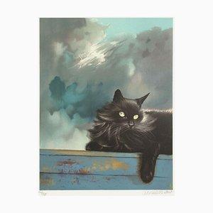 Le Chat Gris von Michèle Battut