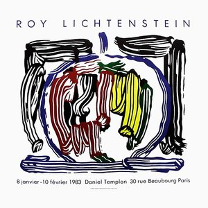 Expo 83 Galerie Daniel Templon Poster by Roy Lichtenstein