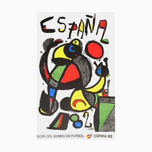 Expo 82 Poster World Cup Soccer by Joan Miro