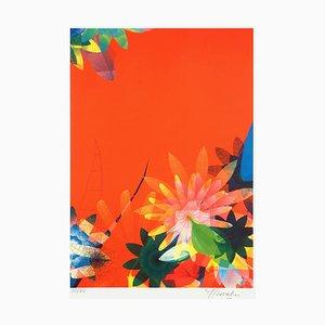 Sur,Nature Orange by Miguel Chevalier