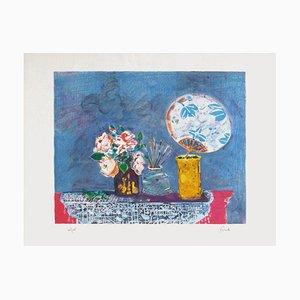 Vase Still Life with Japanese par Gilles Gorriti