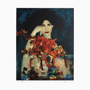 Woman with Bouquet by Juan Castilla