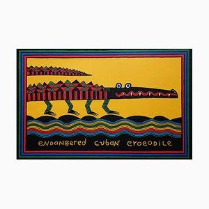 Endangered Cuban Crocodile, Judy Kensley Mckie, Screenprint