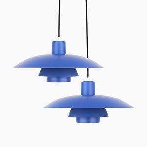 Lampes à Suspension, Modèle PH 4/3, par Poul Henningsen pour Louis Poulsen, Danemark, 1960s, Set de 2