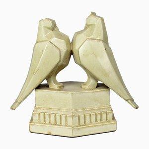 Figura cubista Art Deco in ceramica