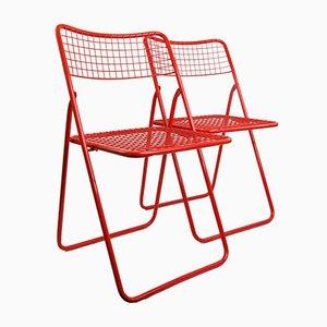 Sillas plegables Ted Net de Niels Gammelgaard para Ikea, años 80. Juego de 2