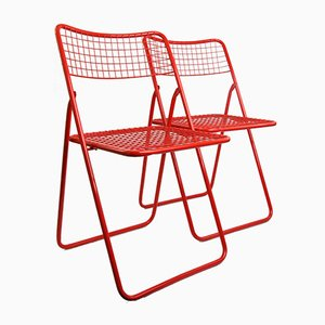 Ted Net Folding Chairs by Niels Gammelgaard for Ikea, 1980s, Set of 2