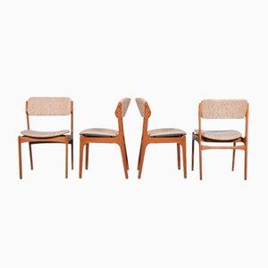 Esszimmerstühle von Erik Buch, 1960er, 4er Set