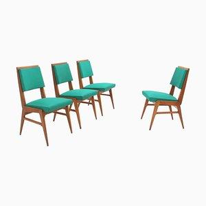 Französische Mid-Century Esszimmerstühle, 1950er, 4er Set