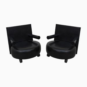 Lounge Chairs by Antonio Citterio for B&B Italia / C&B Italia, 1980s, Set of 2