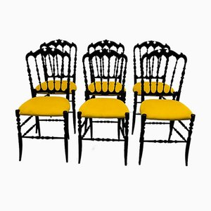 Mid-Century Chiavari Parigina Dining Chairs from Levaggi, Set of 6