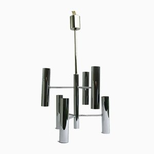 Chrome Chandelier by Gaetano Sciolari for Boulanger, 1970s