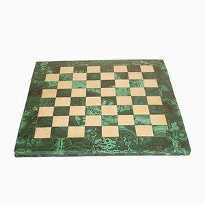 Antique Russian Malachite Chess Board