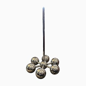 Italian Space Age Chromed Steel Chandelier from Reggiani, 1970s