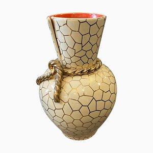 Italienische Mid-Century Modern Keramikvase von Rometti, 1950er